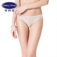 安莉芳女士内裤商场同款性感薄款通透蕾丝低腰三角裤E19751