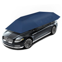 汽车智能移动车篷夏季防晒车衣车罩车顶自动汽车遮阳伞太阳伞