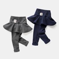 女童打底裤宝宝保暖裤子儿童假两件长裤