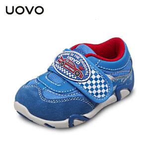 UOVO新款秋季宝宝鞋男童运动鞋搭扣小童童鞋透气防撞童鞋 赛车手