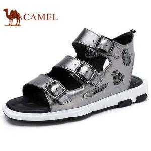camel骆驼男鞋 夏季新品 时尚休闲凉鞋 舒适透气户外沙滩鞋凉鞋