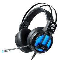 笔记本电脑头戴式USB耳机有线单孔耳麦带话筒语音游戏录音K歌