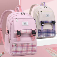 开学必备小学生书包 儿童书包小学生男孩女生1-2-3-6年级双肩包韩版背包 开学礼物