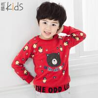 初语童装 冬装新款 男童卫衣 卡通中大童卫衣T5405210041