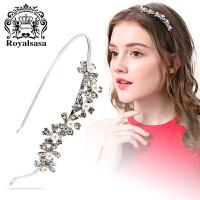皇家莎莎Royalsasa头饰韩版时尚合金人造水晶贝珠发箍发卡发饰-璀璨珠语