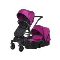 【当当自营】美国BabyRoo Letour Avant布艺系列高景观多功能轻便婴儿手推车水晶紫黑色架