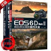 2册 佳能Canon EOS 6D Mark Ⅱ数码单反摄影圣经+佳能6d2数码单反摄影技巧大全 视频教程入门到精通使用