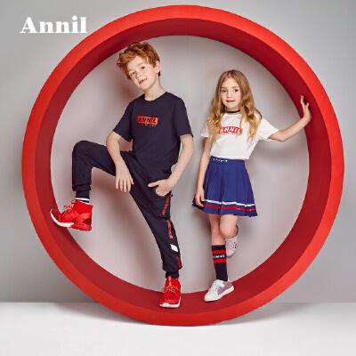 安奈儿童装母子装潮夏薄款一家三四口亲子装全家装T恤AM1628安奈儿童装,不一样的舒适