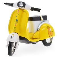 Q版卡通仿真合金小绵羊摩托车 独立装 回力玩具车