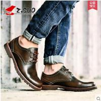 Z.Suo/走索男鞋新款英伦工装鞋男士休闲鞋系带低帮鞋休闲皮鞋潮 zs2311