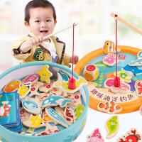 儿童钓鱼套装0-1-2-3岁开发小孩婴幼儿男孩女磁铁宝宝益智力玩具