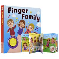 【首页抢券300-100】Finger Family 指偶家族 趣味经典儿歌童谣发声书 撕不烂英语纸板书 儿童英文原版进
