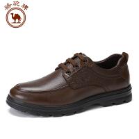 骆驼牌 新品男鞋商务休闲男士鞋子低帮系带皮鞋舒适耐磨