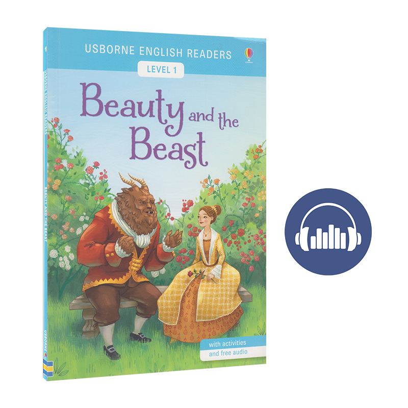 Usborne English Readers Level 1 Beauty and the Beast 英语小读者系列 美女与野兽 长篇童话分级阅读初级 英文原版进口图书 附赠英式美式音频
