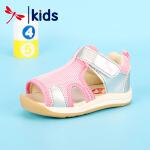 【1件2折后:59元】红蜻蜓凉鞋新款夏季时尚露趾可爱小巧舒适魔术贴女童小童儿童凉鞋