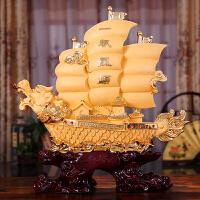 一帆风顺帆船摆件船工艺品龙舟客厅办公室酒柜装饰品乔迁入伙礼品