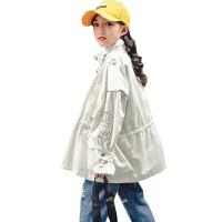 女童中长款风衣秋冬装小女孩宽松外套儿童装洋气上衣