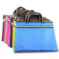 A4双拉链手提文件袋贝多美 定制印刷拉链袋公文包 资料袋 BDM-088