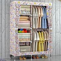 大号布衣柜 钢管加粗简易牛津布组装衣橱单人收纳柜储物抖音同款