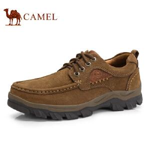 骆驼牌 男鞋 新品手工缝线厚底户外大休闲鞋低帮男鞋