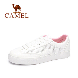 Camel/骆驼女鞋  秋季新款 时尚百搭潮牌板鞋 运动透气小白鞋