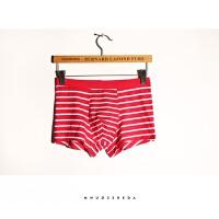 夏季条纹 莫代尔棉男士内裤短平角四角简约中腰柔软舒