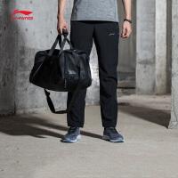 李宁运动裤男士新款跑步速干凉爽反光跑步裤平口夏季运动裤AYKM055