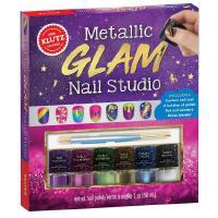 英文原版 儿童手工玩具书:金属色指甲油 美甲工作室 动手能力培养 Klutz: Metallic Glam Nail