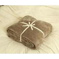 珊瑚绒网眼毛巾被子 冬季加厚毛毯毯子 空调毯午睡毯