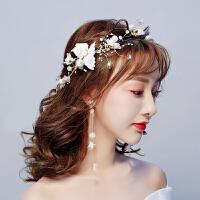 新娘头饰森系超仙花朵发带结婚婚纱礼服配饰发饰套装