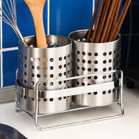 厨房餐具笼架不锈钢筷子筒双筒筷子收纳盒筷筒沥水筷桶筷子笼