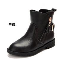 女童马丁靴单靴春秋2016新款冬季短靴宝宝中大童儿童冬靴