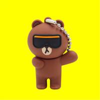 高速3.0 u盘32G可爱卡通创意嘻哈布朗熊 个性学生 手机两用优盘 高效办公 创意卡通