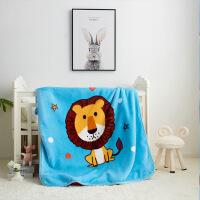 家纺 双层儿童加厚云毯 家居婴儿盖毯休闲毛毯儿童午睡空调毯 110x140cm