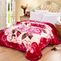双层拉舍尔毛毯冬季加厚被子珊瑚绒床单毯子法兰绒空调毯垫