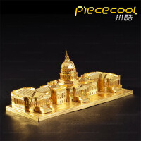 3D手工DIY金属拼装模型立体拼图家居摆件 建筑模型 美国国会大厦