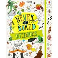 英文原版 Usborne儿童户外活动手册 家庭游戏 Never Get Bored Outdoors