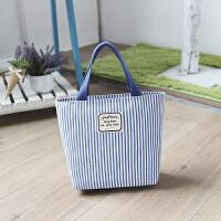 新款韩版小包包女帆布手提包个性条纹便当包迷你妈妈手拎包小布包
