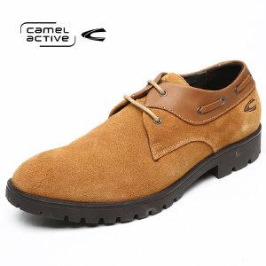 骆驼动感/Camel Active男鞋秋冬休闲磨砂皮鞋系带皮鞋青年潮鞋