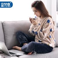 20171029144616426黛梦思珊瑚绒睡衣女冬季加厚韩版居家服长袖甜美可外穿利发国际lifa88服套装