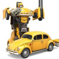 大黄蜂擎天柱汽车机器人加大男孩 变形金刚6遥控玩具甲壳虫