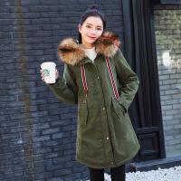 羊羔绒外套女套秋冬季2018新款百搭工装风韩版毛领加厚中长款