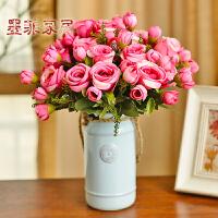 小清新文艺现代简约干花瓶摆件客厅家居白色麻绳水培花器陶瓷日式