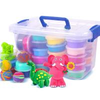24色超轻粘土橡皮泥无毒彩泥太空雪花软陶36沙套装沙儿童益智玩具