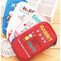 韩国文具可爱笔袋/大动物轻松派笔袋 帆布韩国大容量笔袋 拉链创意笔袋/学生笔袋 可爱学习笔袋 文具袋