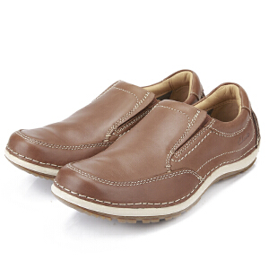 Clarks/其乐男鞋2017秋冬新款真皮商务休闲鞋Shiply Step专柜正品直邮