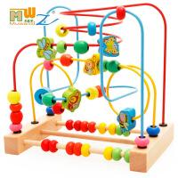 木丸子绕珠串珠榉木水果木制益智玩具开发手眼协调 周岁生日圣诞节新年六一儿童节礼物