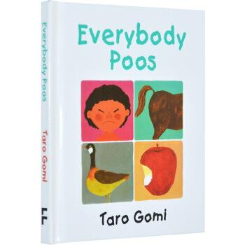 Everybody Poos 大家都要拉便便 英文原版 五味太郎 吴敏兰绘本123 第30本 精装小本 Everyone