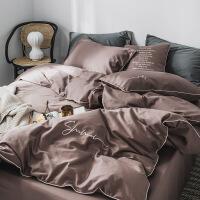 60支新疆长绒棉床单四件套工艺刺绣简约纯色素色床笠件套 2.0m 床(床单款)