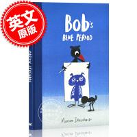 �F� �U勃的�{色�n郁期 英文原版 3-6�q�和�情�w管理治愈�L本 Bob's Blue Period 英文版 �R里恩・杜查